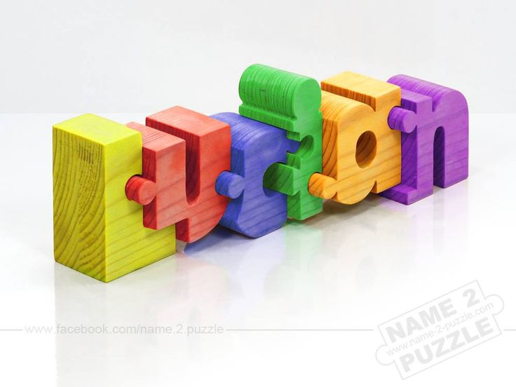 Personalized wooden color name puzzles unique gift ideas and personalized wooden color name puzzles negle Image collections
