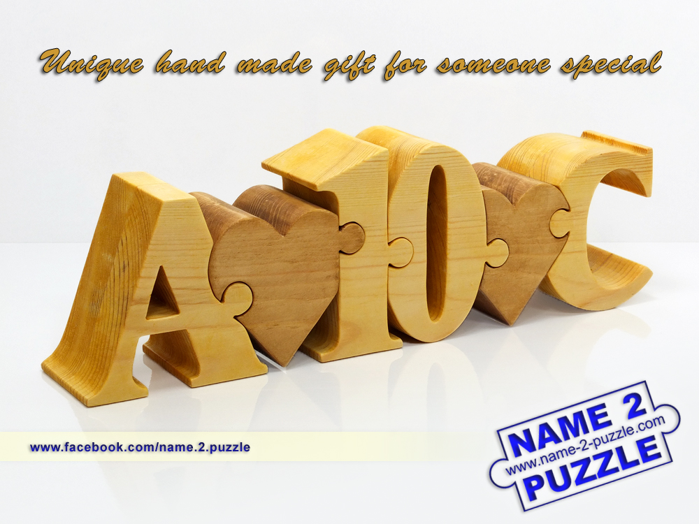 Anniversary Gift Name Puzzles