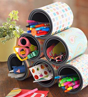 pen holder tin boxes