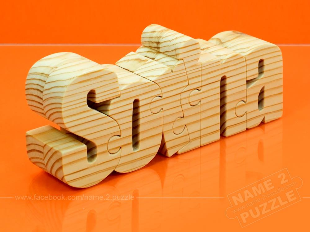 Orange Name Puzzle Color
